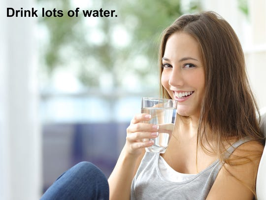 Keep a glass of water at your side. Drinking that in