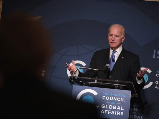 Joe Biden speaks to the Chicago Council on Global Affairs