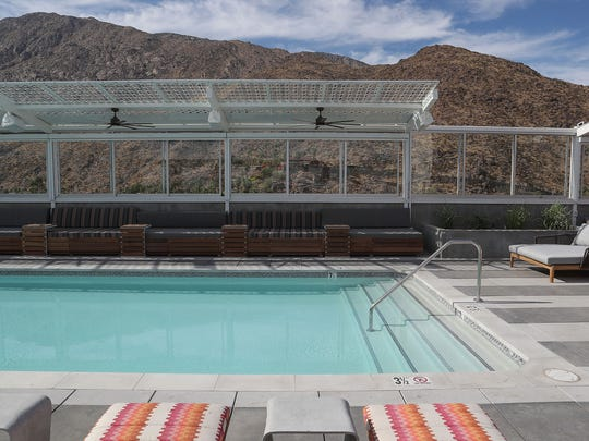 Ranked No. 1 on Conde Nast Traveler's 2018 Readers' Choice Awards  for Top Hotels in Southern California is the Kimpton Rowan in Palm Springs, which boasts a spectacular view of the mountains from its rooftop pool and dining areas.
