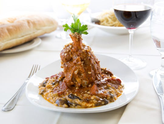 The osso bucco at Tomaso's and Tomaso's When in Rome.