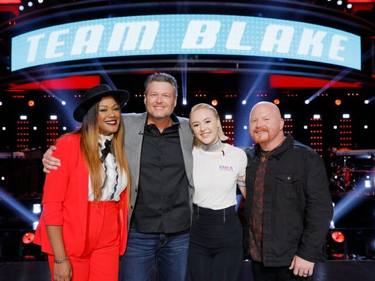 Team Blake on The Voice consists of, right, Red Marlow;