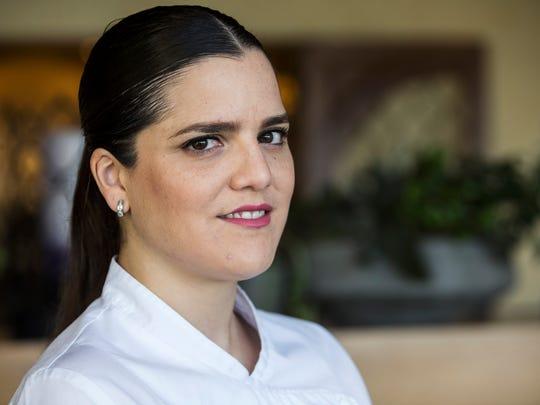 Chef Samantha Sanz poses for a portrait at Talavera