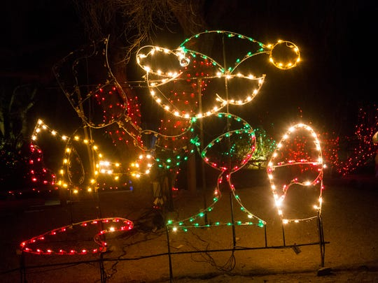 The annual WildLights holiday event at the Living Desert