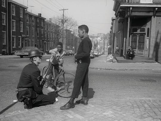 A scene from the time of the Wilmington riots in April