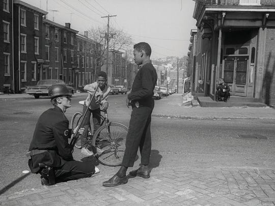 A scene from the time of the Wilmington riots in April 1968 after the assassination of Dr. Martin Luther King Jr.