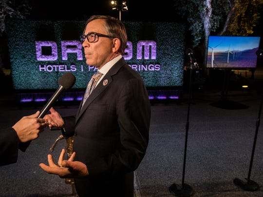 Palm Springs Mayor Robert Moon at the groundbreaking