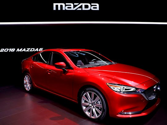 The 2018 Mazda6 is introduced during the Los Angeles Auto Show, Wednesday, Nov. 29, 2017, in Los Angeles.