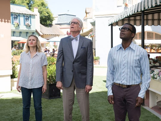 Kristen Bell as Eleanor, Ted Danson as Michael and