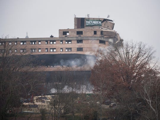 The Clemson House is imploded on Sunday, December 3,