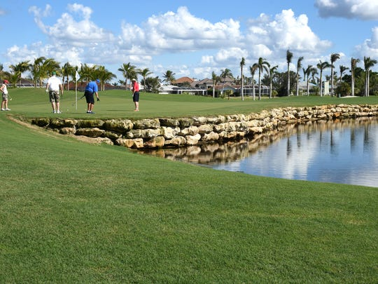 Wooden bulkheads have been replaced with ornamental rock walls made of massive chunks of limestone. The Island Country Club golf course reopened Dec. 1 after a $6 million renovation interrupted by Hurricane Irma.