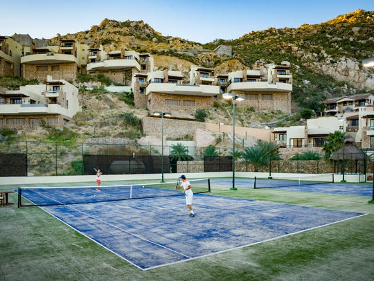 Tennis Court at The Resort at Pedregal in Cabo San