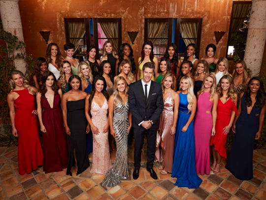 "The cast of ""The Bachelor,"" season 22 starring Arie"