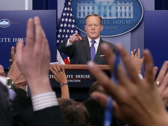 Sean Spicer was White House press secretary from January through late July.