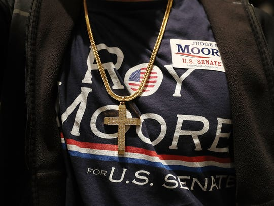 A supporter of Republican Senatorial candidate Roy