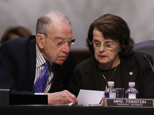President Trump's nominees for federal courts have sped through the Senate Judiciary Committee at a record pace, but Chairman Chuck Grassley (L) has urged the White House to withdraw two controversial choices.