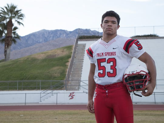 Palm Springs junior Aurek Boutte is a member of the 2017 First Team All-Desert Sun football team.