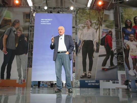 President & CEO, Ford Motor Company Jim Hackett speaks
