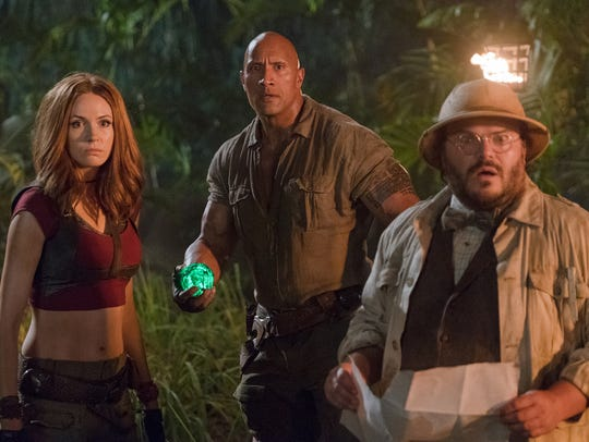 Dwayne Johnson, Karen Gillan and Jack Black star in