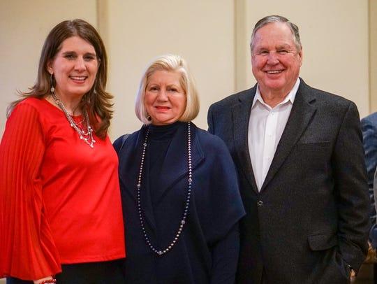 Pilar Eble, Marlys and Mike Haverty celebrate Kathleen
