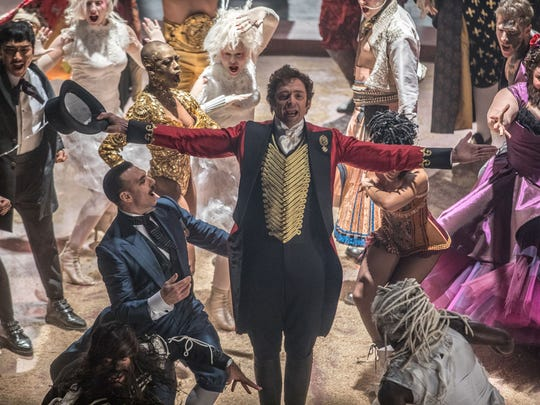 """Hugh Jackman stars in """"The Greatest Showman."""" The movie opens Dec. 20 at Frank Theatres Queensgate Stadium 13 and R/C Hanover Movies."""