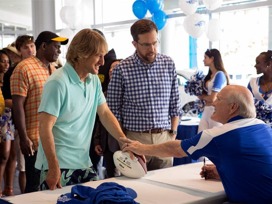 """From left, Owen Wilson as Kyle Reynolds, Ed Helms as Peter Reynolds and Terry Bradshaw as Terry Bradshaw in """"Father Figures."""" The movie opens Dec. 21 at Regal West Manchester Stadium 13, Frank Theatres Queensgate Stadium 13 and R/C Hanover Movies."""