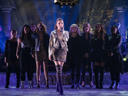 """A scene from """"Pitch Perfect 3."""" The movie opens Dec. 21 at Regal West Manchester Stadium 13, Frank Theatres Queensgate Stadium 13 and R/C Hanover Movies."""