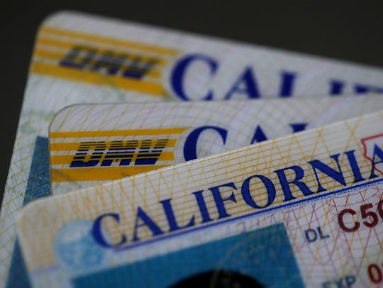 California Drivers Licenses are shown in a photo illustration