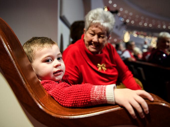 Aidan Boone, 2, and his great grandmother Patsy Rackley