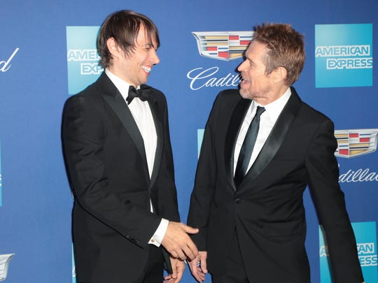 Sean Baker and Willem Dafoe arrive at the Palm Springs International Film Festival, January 2, 2017.