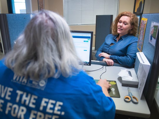 In addition to funding partner agencies, the United Way organizes several volunteer initiatives such as a free tax preparation service. Last March, United Way volunteer Becky Greene helped Dana Evans with her taxes at  Redemption World Outreach.