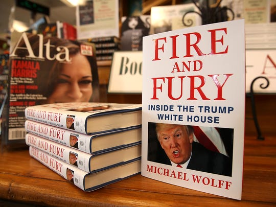 """Copies of the book """"Fire and Fury"""" by author Michael"""