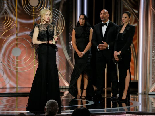 Nicole Kidman (left) wins the Golden Globe for best actress in a limited series for 'Big Little Lies.'