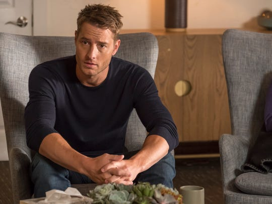 Kevin (Justin Hartley) faces his family during an uncomfortable