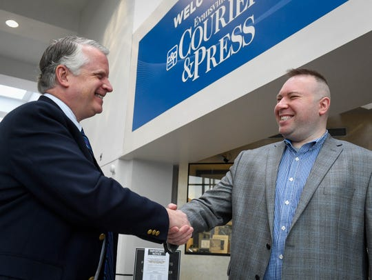 Evansville Courier & Press executive editor George
