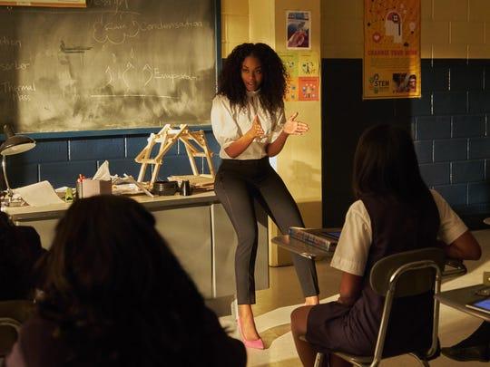 "Nafessa Williams as Anissa on ""Black Lightning."""