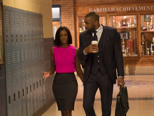 Skye P. Marshall as Ms.Fowdy and Cress Williams as