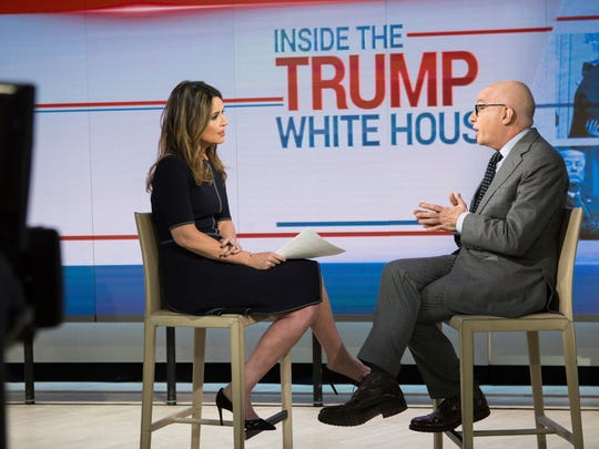 This photo provided by NBC shows Savannah Guthrie interviewing