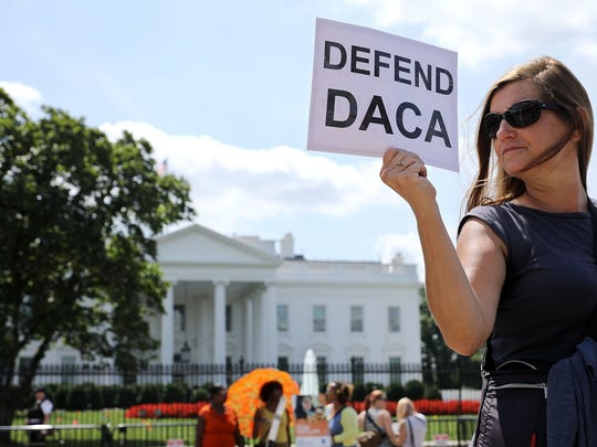 . Pro-DACA protesters outside the White House in September 2017