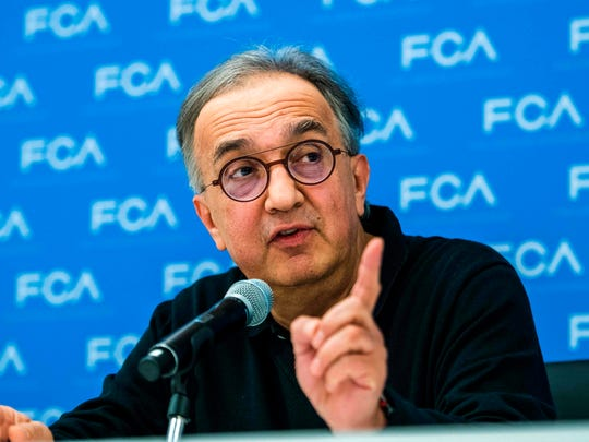 Sergio Marchionne, CEO of Fiat Chrysler Automobiles,