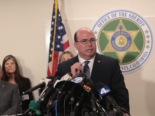 Captain Greg Fellows speaks at a press conference regarding