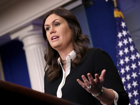 White House Press Secretary Sarah Sanders answers questions during the daily briefing at the White House January 17, 2018 in Washington, DC.