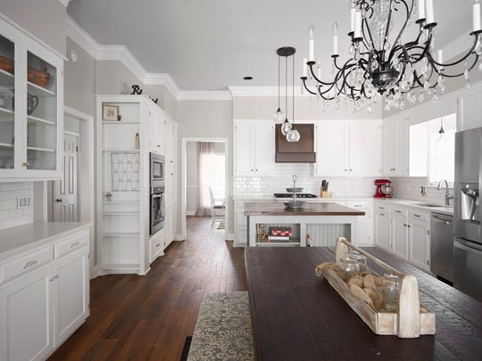 The large, open concept kitchen is spacious enough