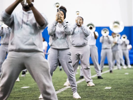 Tennessee State University's Aristocrat of Bands practices