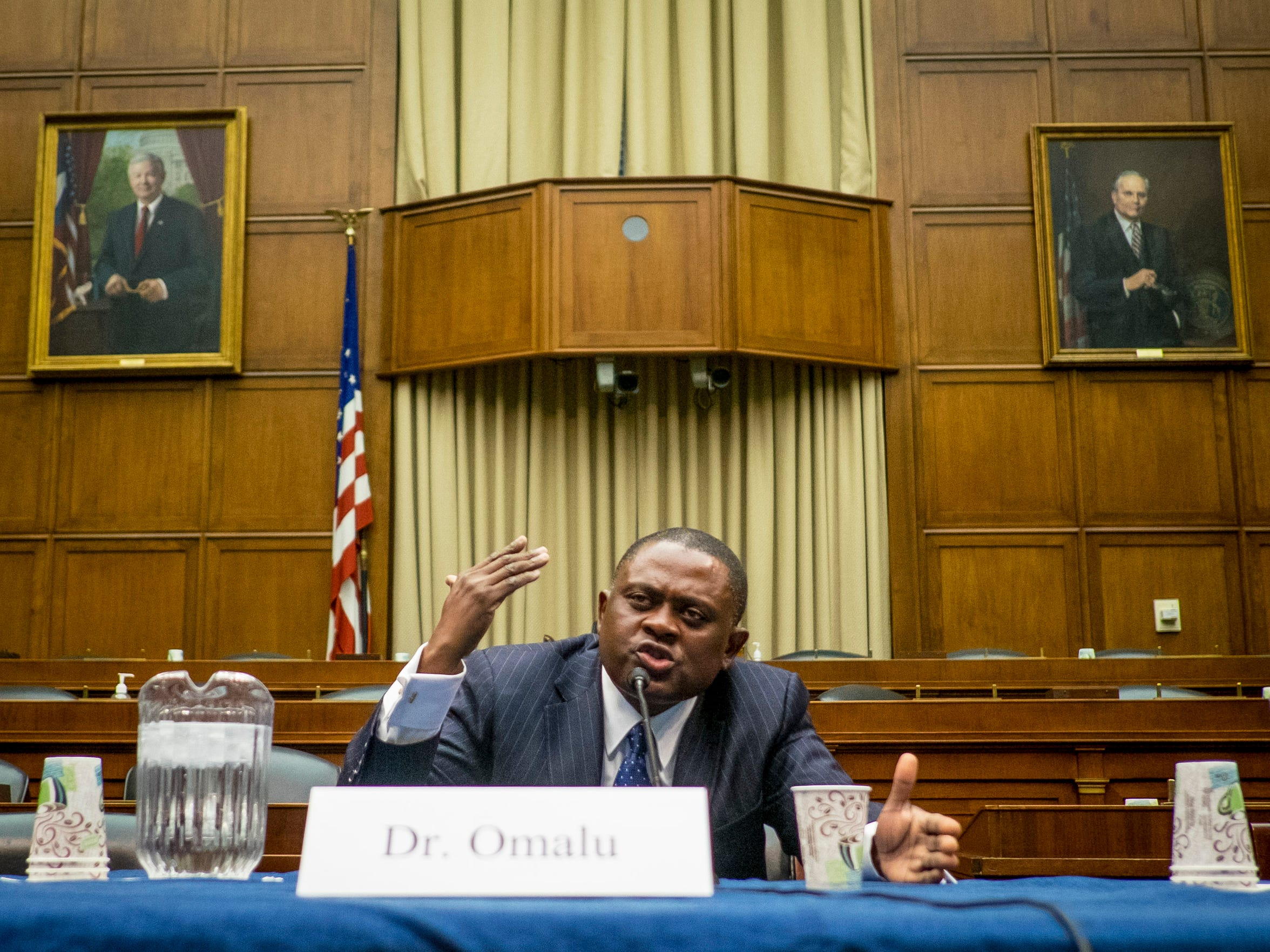 Forensic pathologist and neuropathologist Dr. Bennet Omalu is credited with discovering chronic traumatic encephalopathy, or CTE, in former NFL players.