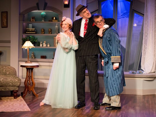 """A scene from """"Jeeves Takes a Bow"""" at NC Stage Co."""