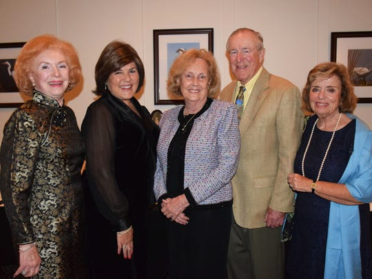 """June Bercaw, left, Gerri Smith, Diana Stark, and John and Anita O'Neill at the """"Diamonds In The Rough"""" gala."""
