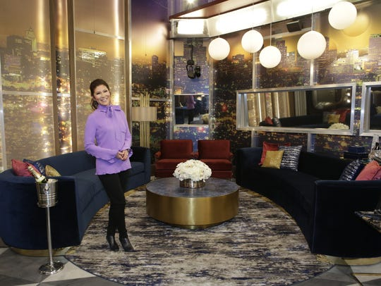 'Big Brother' host Julie Chen in the more sophisticated Los Angeles house where the competition is held.