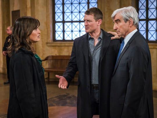Jack McCoy (Sam Waterston) introduces Lt. Olivia Benson