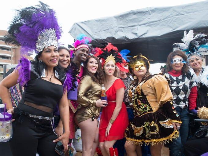 Pensacola Grand Mardi Gras parade in downtown Pensacola
