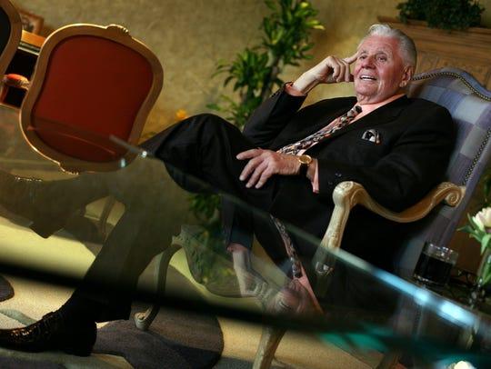 Art Van Elslander, 78, talks to the Free Press in his